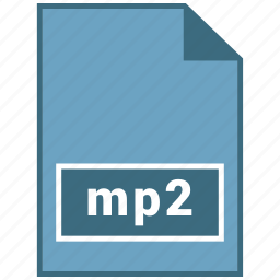 audio, file format, mp2 icon