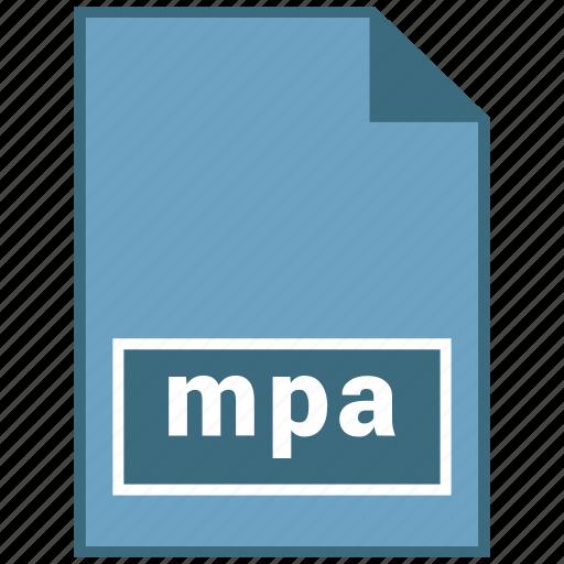 audio, file format, mpa icon