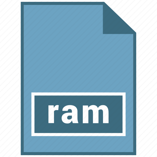 audio, file format, ram icon