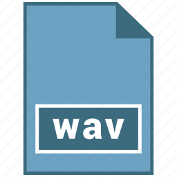 audio, file format, wav icon