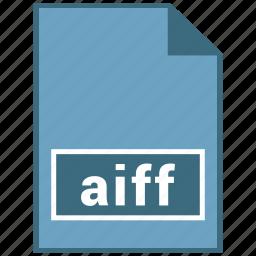aiff, audio, file format icon