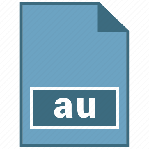 au, audio, file format icon