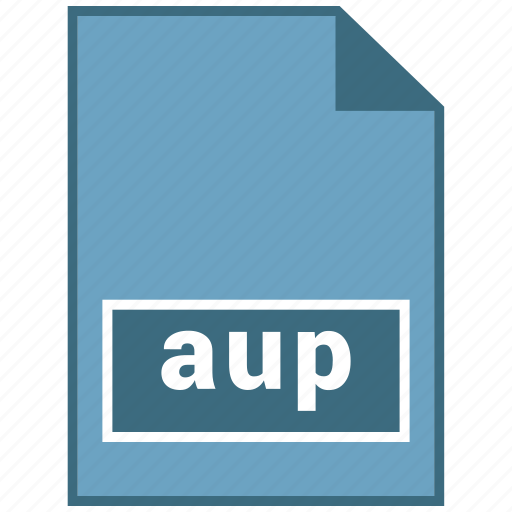 audio, aup, file format icon