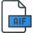 aif, audio, file, music, sound icon