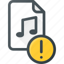 attention, audio, file, music, sound icon