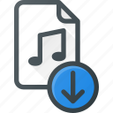 audio, download, file, music, sound icon