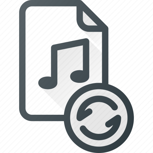 audio, file, music, reload, sound icon