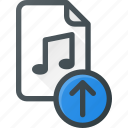 audio, file, music, sound, upload icon
