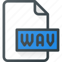 audio, file, music, sound, wav icon