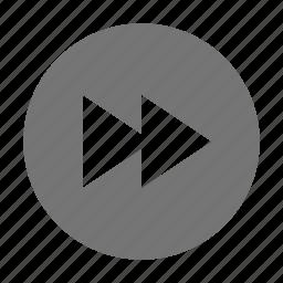 audio, control, fast forward icon