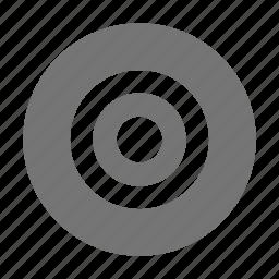 audio, bullseye, control, record icon
