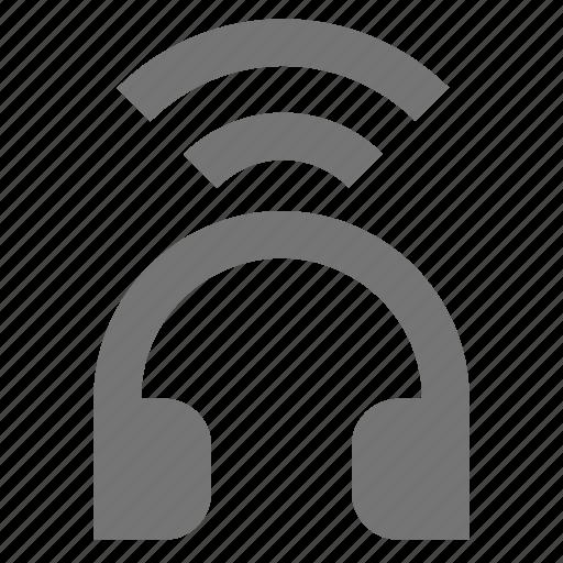 headphone, wireless icon