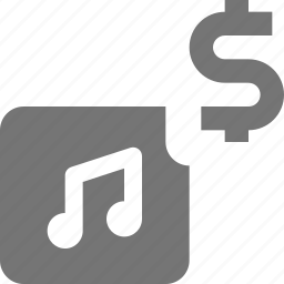 album, dollar, money, music icon