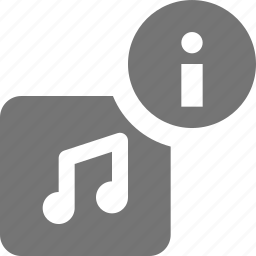 album, information, music icon