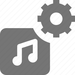 album, configuration, gear, music, settings icon