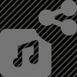 album, music, share icon