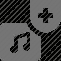 album, music, security, shield icon