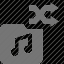 album, arrows, music, shuffle icon