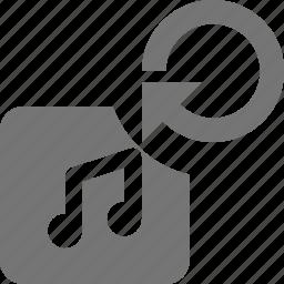 album, arrow, music, refresh, reload, sync icon