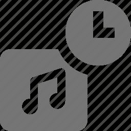 album, clock, music, time icon