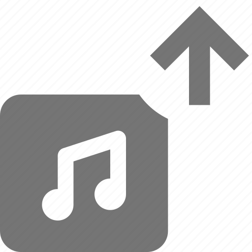 album, arrow, music, up, upload icon