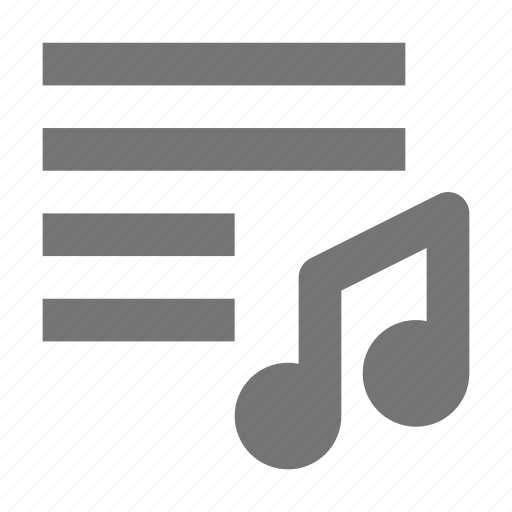 music, playlist icon