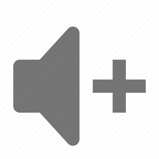 increase, speaker, volume icon