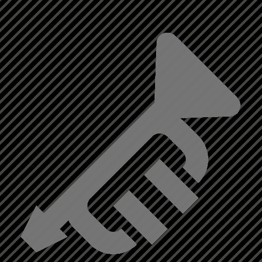 instrument, trumpet icon