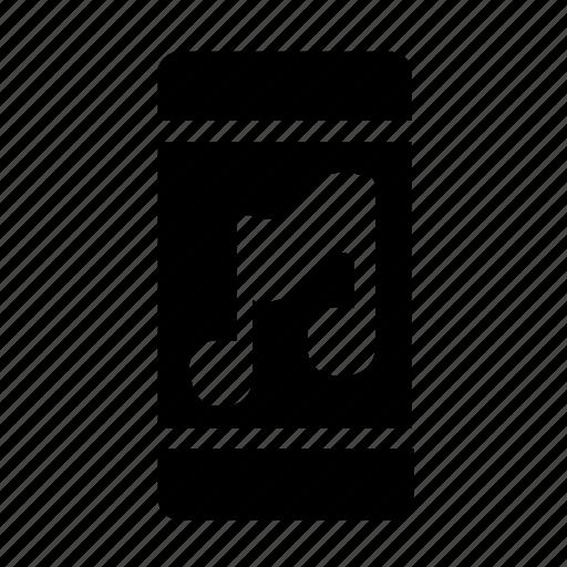 audio, music, smartphone icon