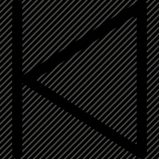 arrows, audio, music, player, previous, sound, video icon