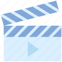 clapboard, director, film, movie, multimedia, shooting