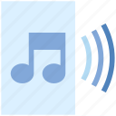 audio page, file, music, paper, sheet music icon
