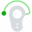 bluetooth, calling, headphone, headset, headset hook icon