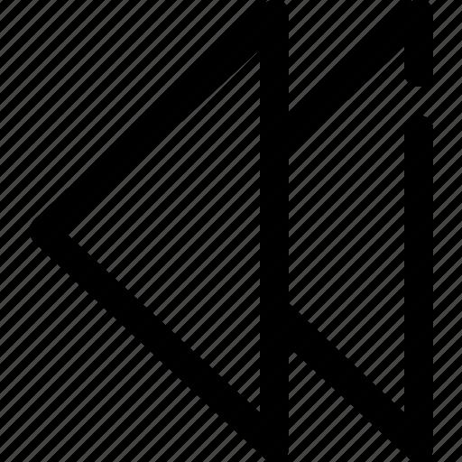 backward, left, previous icon