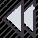 backward, previous icon