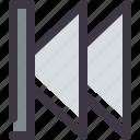 backward, fast, previous icon