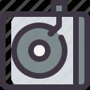 record, retro, turntable, vintage, vinyl icon