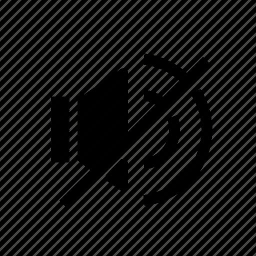 audio, mute, no sound, no volume, speaker, video icon