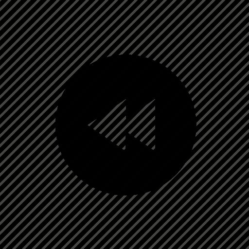 audio, back, music, rewind, sound, video icon