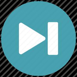 arrow, audio, controls, game, next, right, video icon