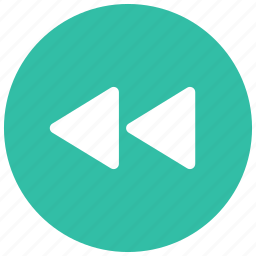 arrows, audio, controls, game, left, rewind, video icon