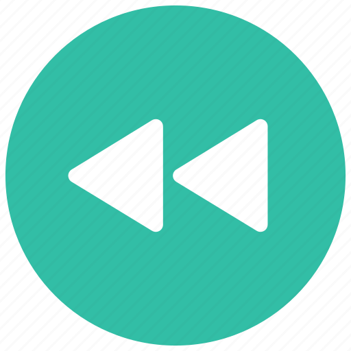 arrows, audio, controls, game, left, rewind, video icon