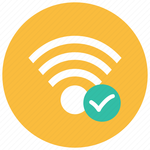 audio, checkmark, connected, controls, game, video, wifi icon