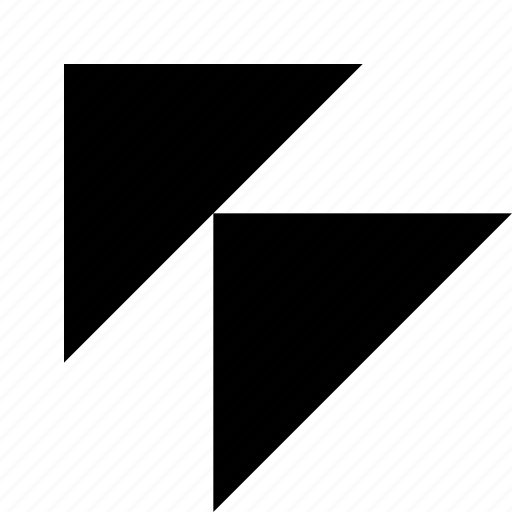 corner, direction, double, left, navigation, top, triangle icon