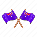 australia, country, flag, national icon