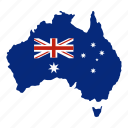australia, country, geography, map, nation, state, sydney icon