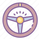 automotive, car, helm, rudder, steering, wheel icon