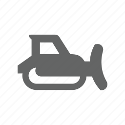 buldoaser, dozer, truck, vehicle icon