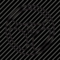 automobile, control, parts, steering, wheel icon