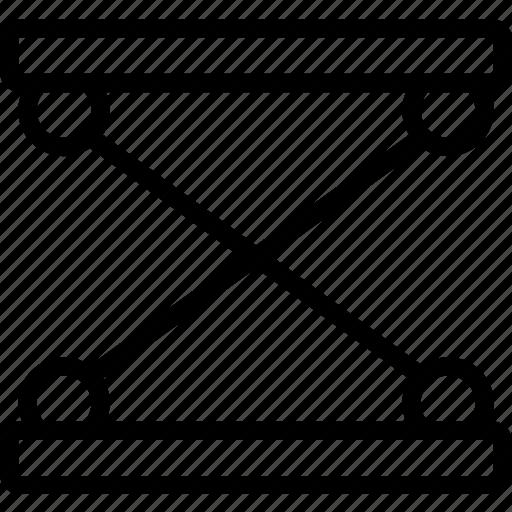 extension, seat, suspension icon